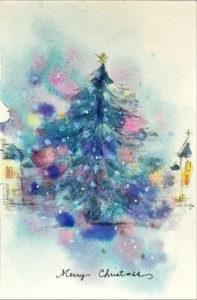 クリスマスカードツリー